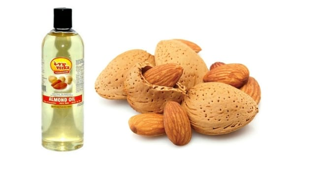 almond oil remedy for lip spots