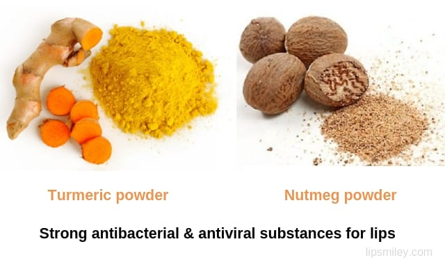 turmeric and nutmeg powder remedy