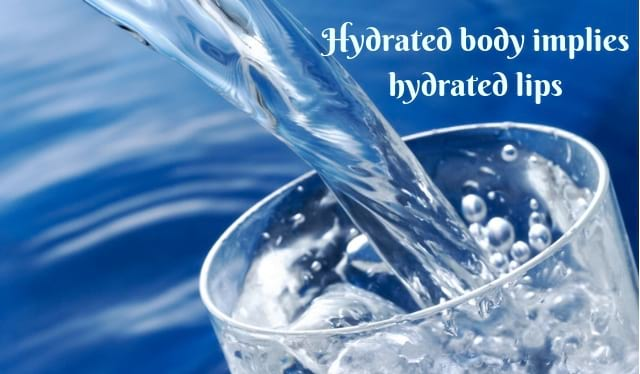 water therapy for lip problems